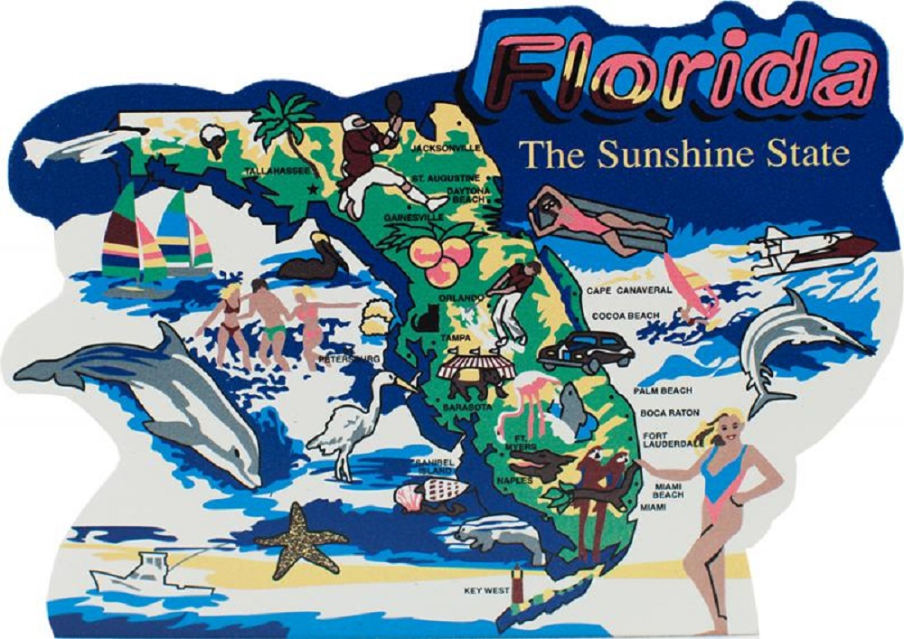 Florida US State Keepsake Map