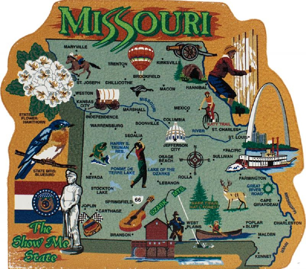 Missouri Keepsake Shelf Sitter